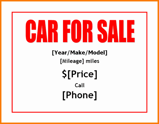 Car for Sale Template