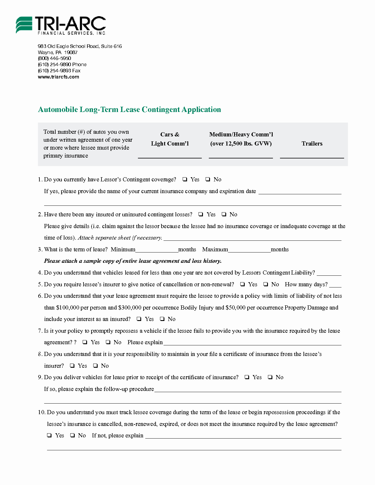 11 Vehicle Lease Agreement Templates to Download – Latter Example