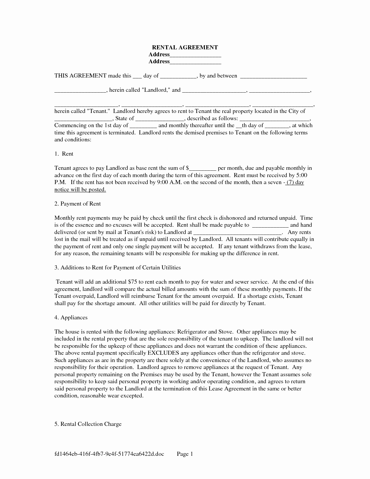 Car Payment Agreement Template – 2011 Requirements for