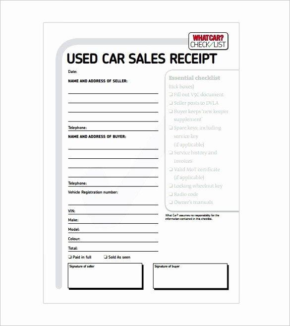 Car Sale Receipt Receipt Template Doc for Word