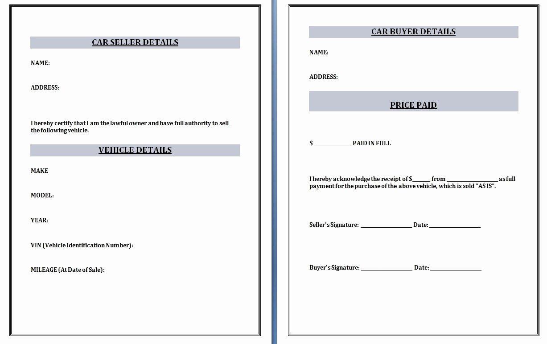 Car Sales Invoice Template Invoice Template Ideas