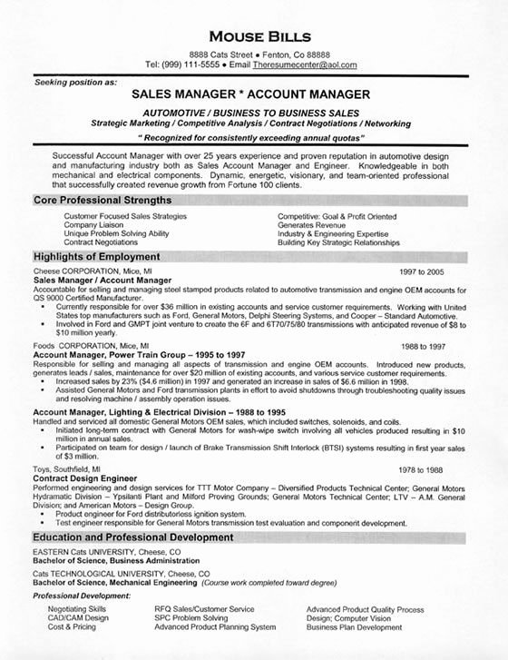 Car Sales Resume Example Resume Examples
