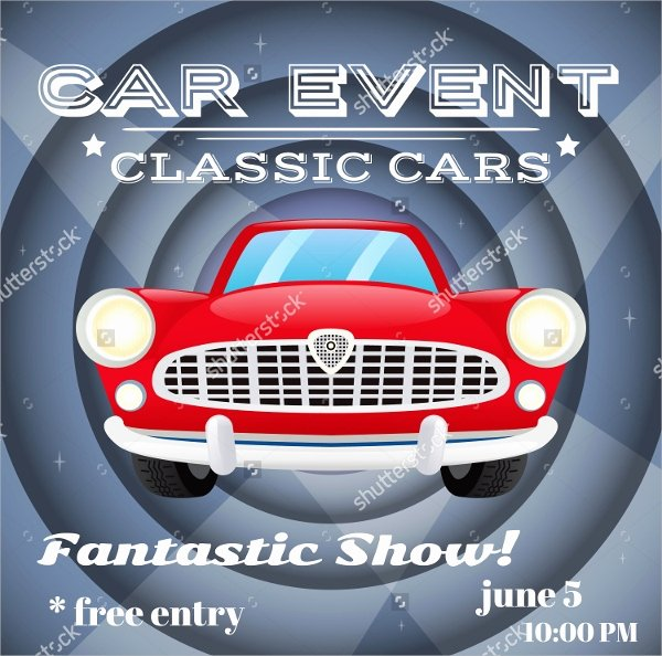Car Show Flyer Template 20 Download In Vector Eps Psd