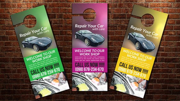 Car Wash Door Hanger Template Flyer Templates On