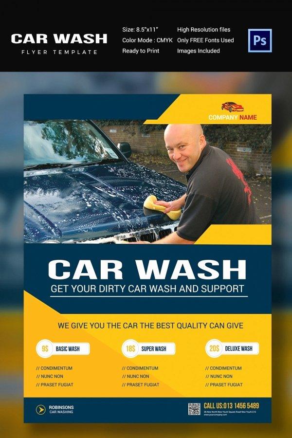 Car Wash Flyer 48 Free Psd Eps Indesign format