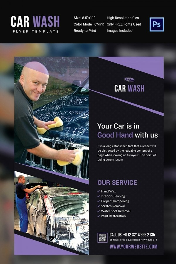 Car Wash Flyer 48 Free Psd Eps Indesign format