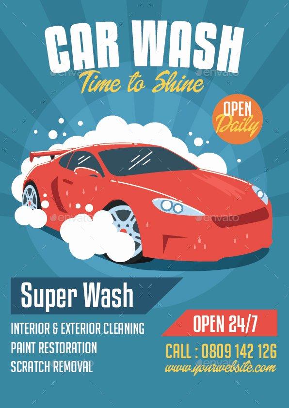 Car Wash Flyer by Bonezboyz