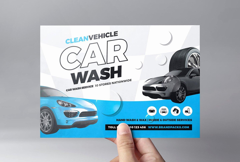 Car Wash Flyer Template for Shop & Illustrator