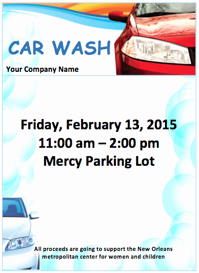 Car Wash Flyer Template Free Flyer Templates