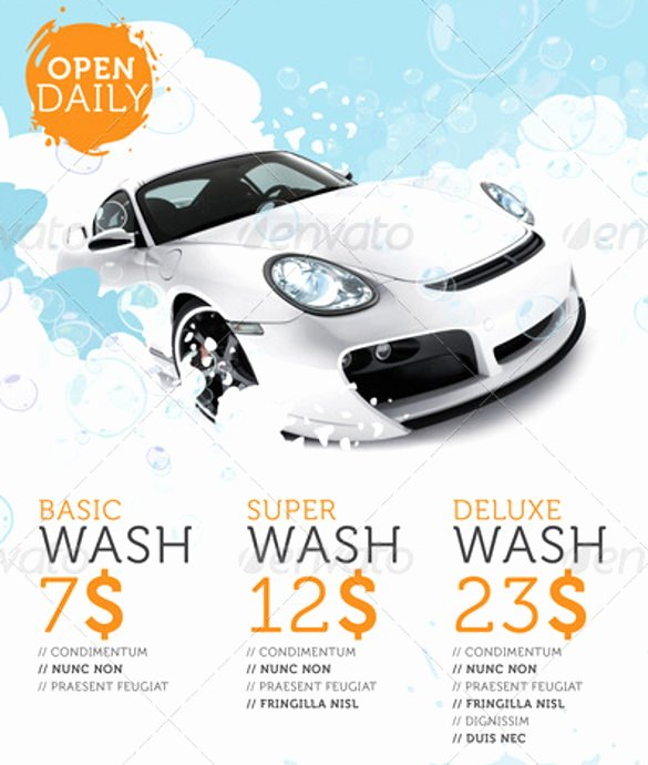 Car Wash Flyers – 40 Free Psd Eps Indesign format