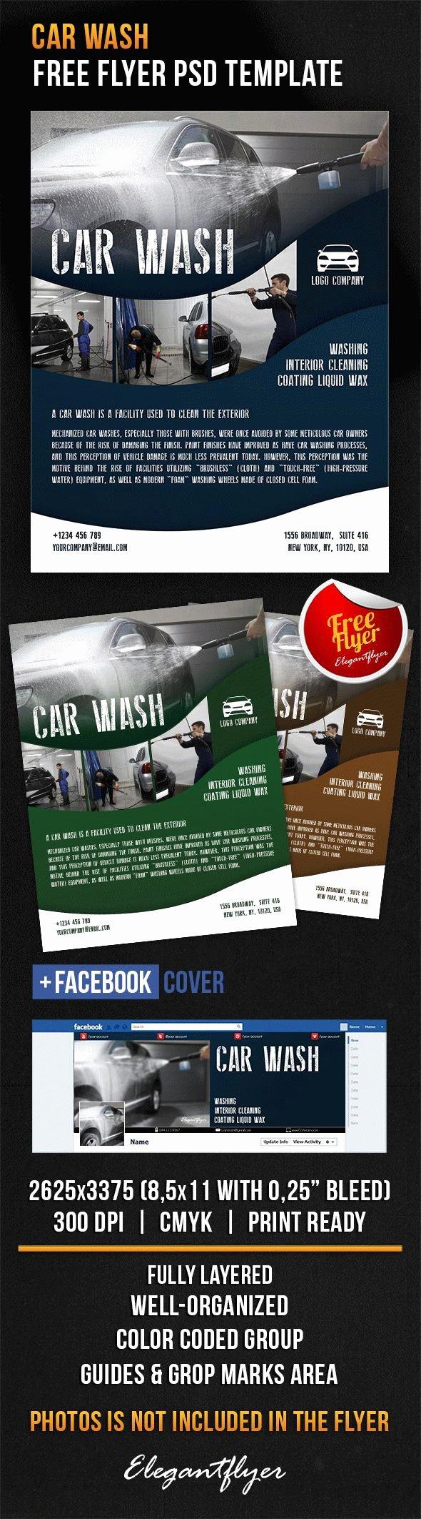 Car Wash – Free Flyer Psd Template – by Elegantflyer