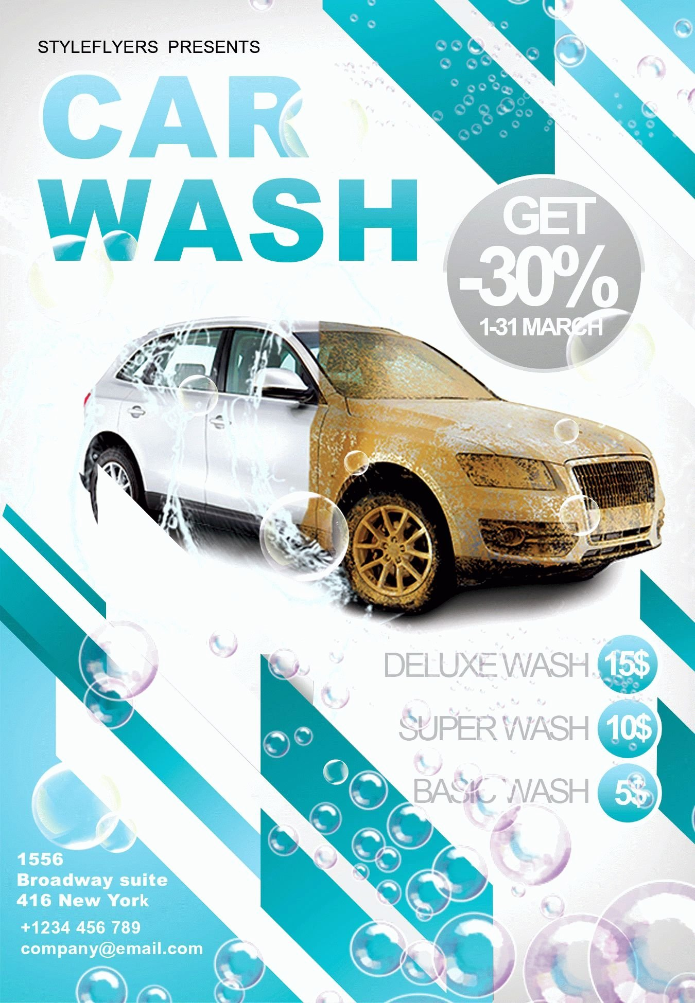 Car Wash Psd Flyer Template