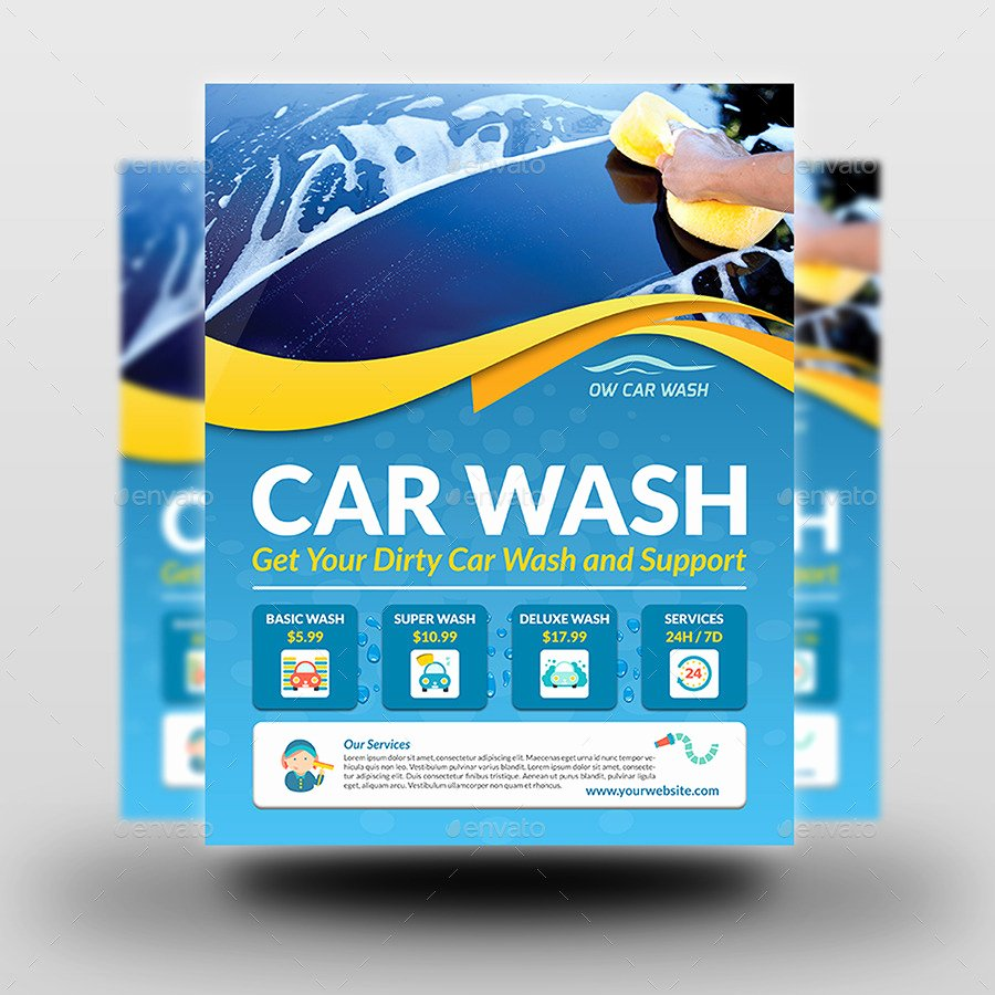 Car Wash Services Flyer Templates by Ow