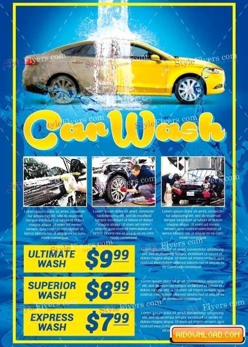 Car Wash V23 Psd Flyer Template Free Download