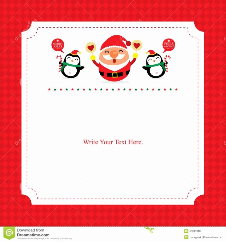 Card Christmas Card Template