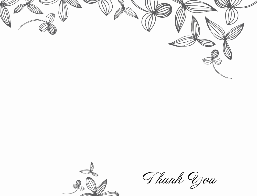 Card Free Printable Thank You Card Template Thank You