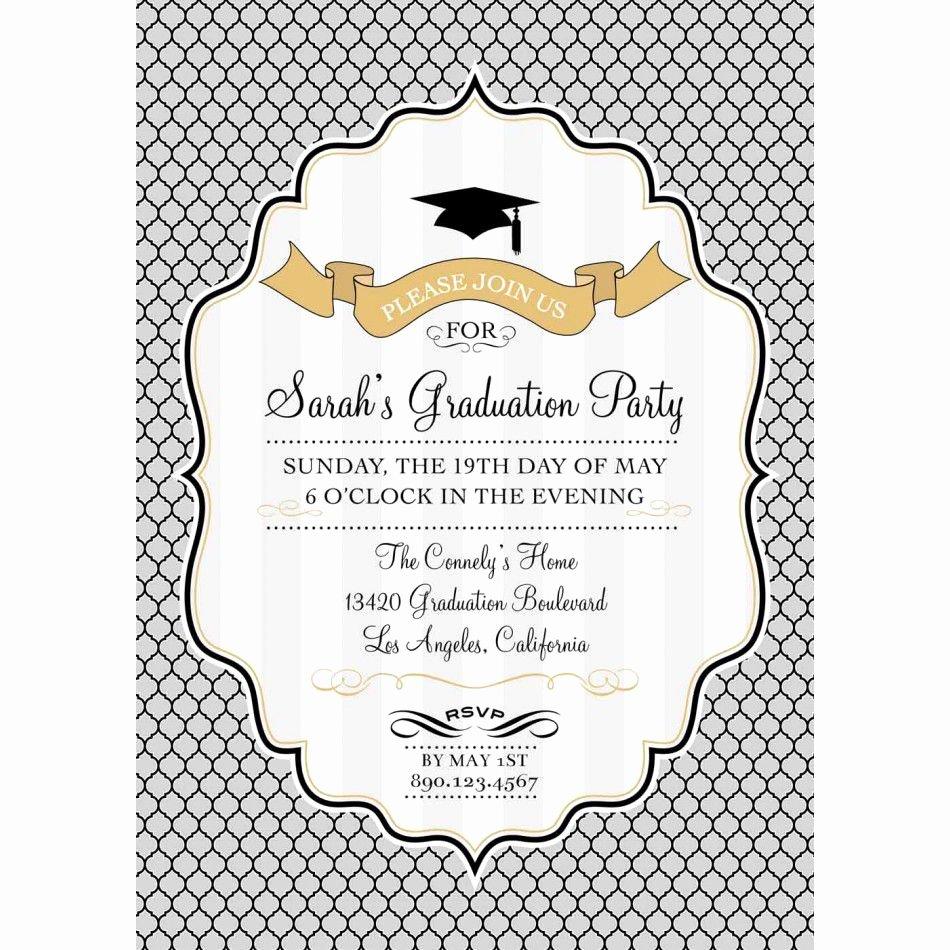 Card Template Graduation Invitation Template Card