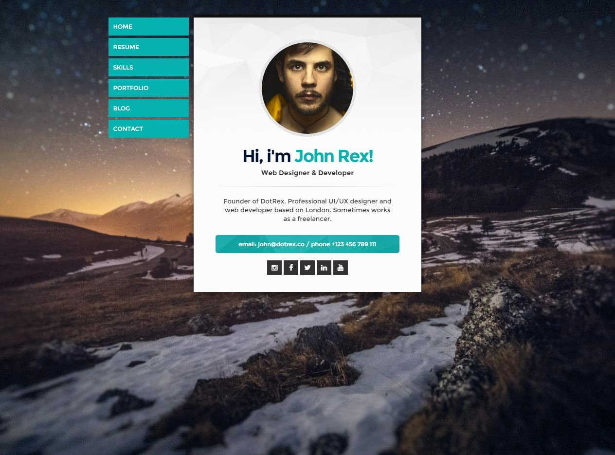 Cards is Premium Full Responsive Retina Resume HTML5