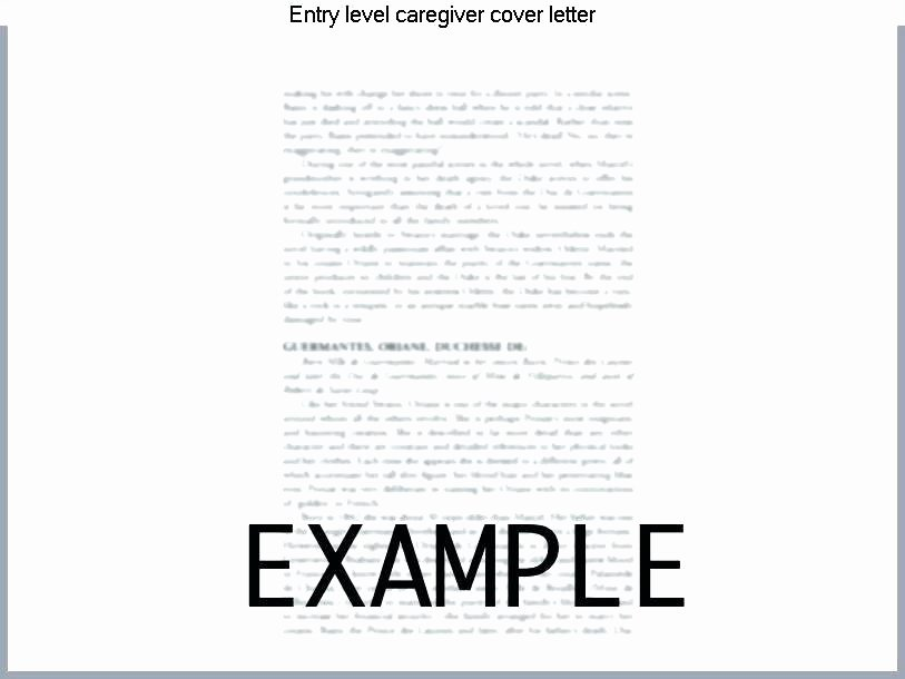Care Giver Cover Letter Writing A Cover Letter for