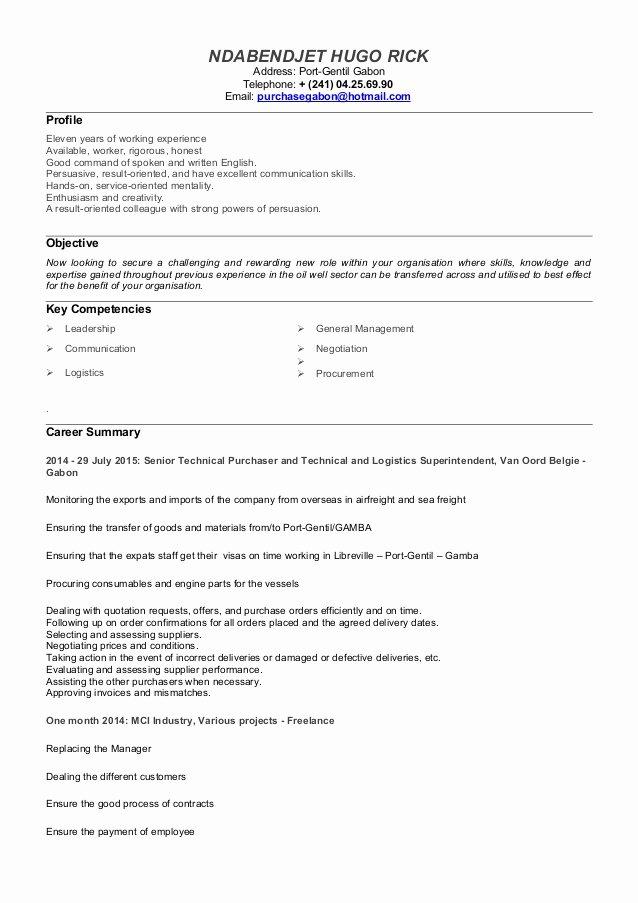Career Change Cv Template