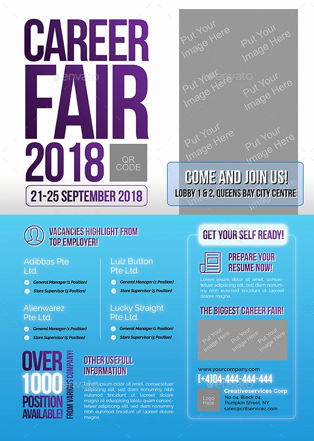 Career Fair Flyer by Shamcanggih