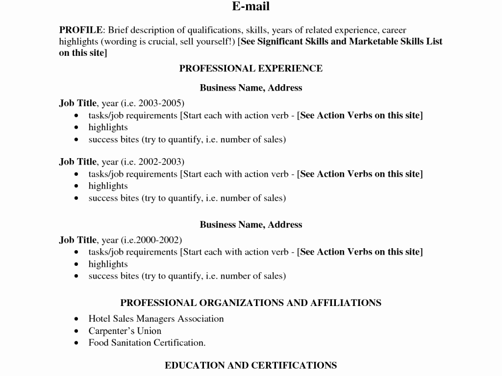 Career Highlights to Put A Resume