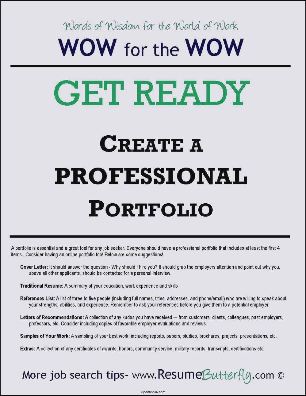 Career Portfolio Template Download Templates Resume
