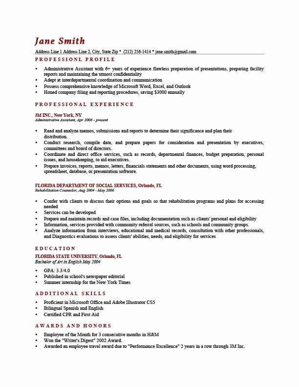 Career Profile Resume Examples Best Resume Gallery