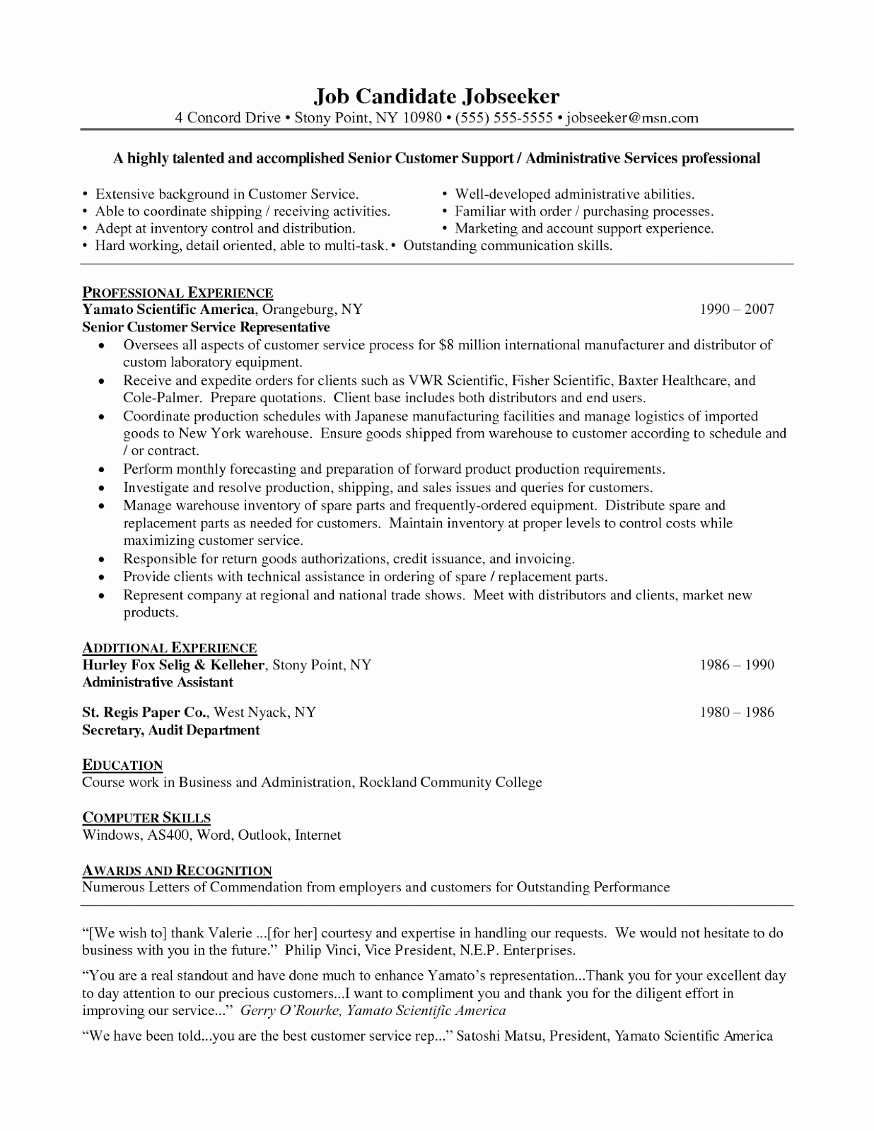 career summary resume customer service objective examples good objective for resume customer service