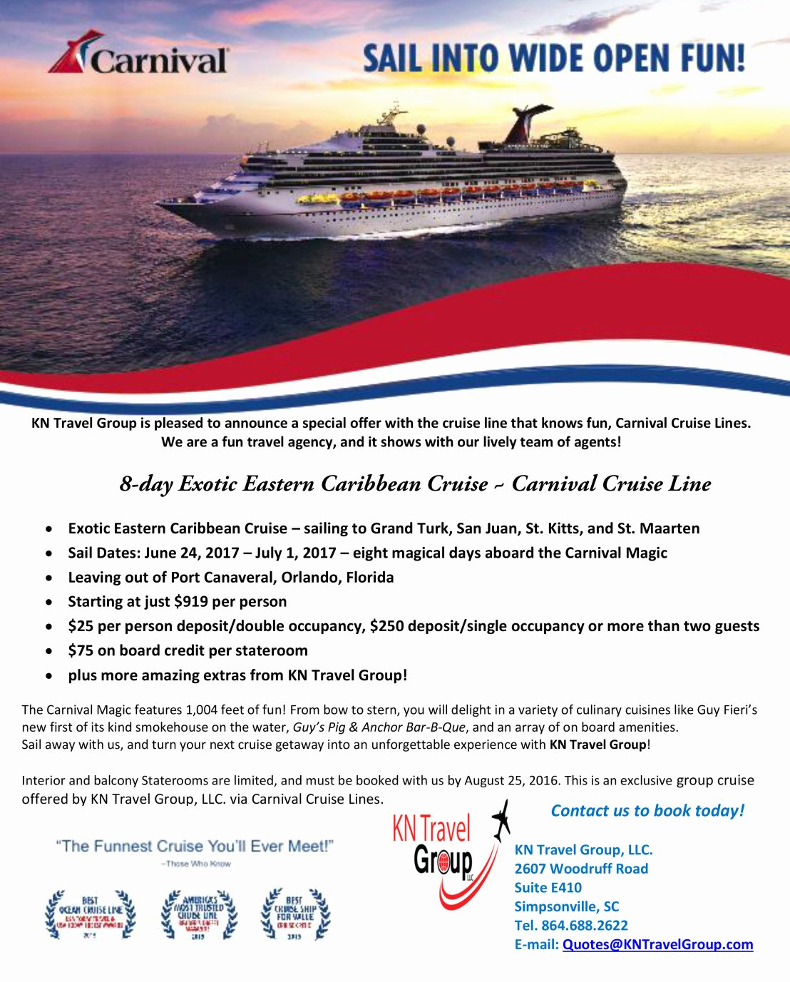 Carnival Cruise Line – Kn Travel Group Llc Your Gateway