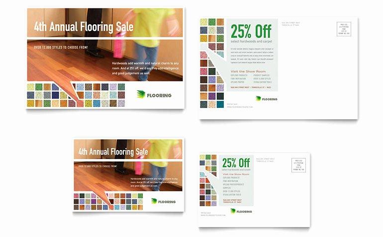 Carpet & Hardwood Flooring Postcard Template Word
