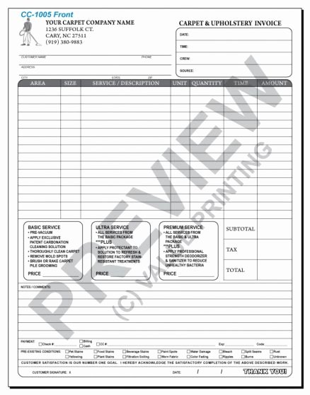 Carpet Cleaning Estimate Template Excel