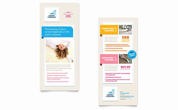 Carpet Cleaning Rack Card Template Word & Publisher