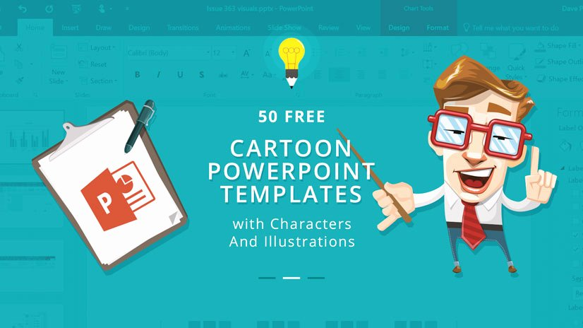 Cartoon Powerpoint Template Bountrfo