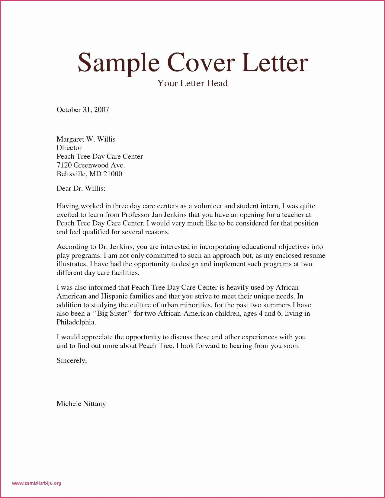Case Manager Cover Letter Sample Example Zoology Resume