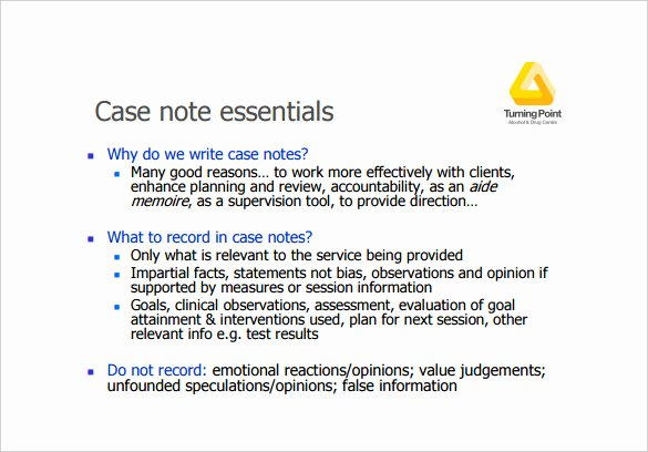 Case Notes Template – 7 Free Word Pdf Documents Download