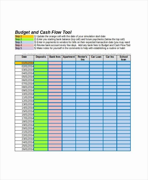 Cash Flow Excel Template 11 Free Excels Download