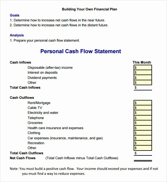 Cash Flow Statement 9 Free Samples Examples format