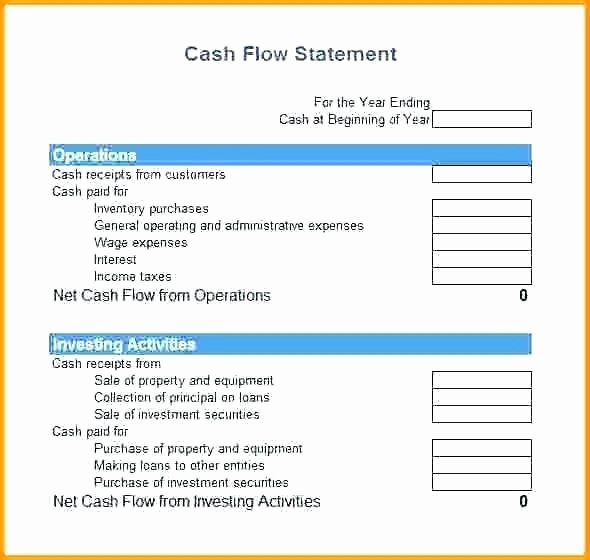 Cash Flow Statement Example Excel Personal Statement