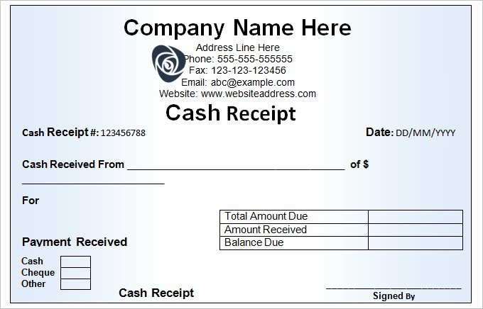 Cash Receipt Book Template Templates Resume Examples