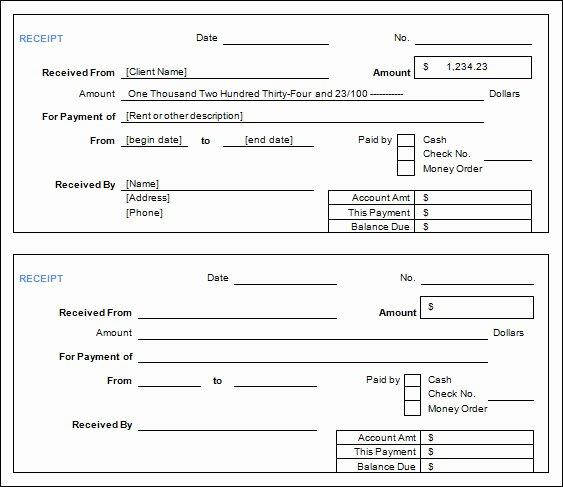 Cash Receipt form Examples Vatansun