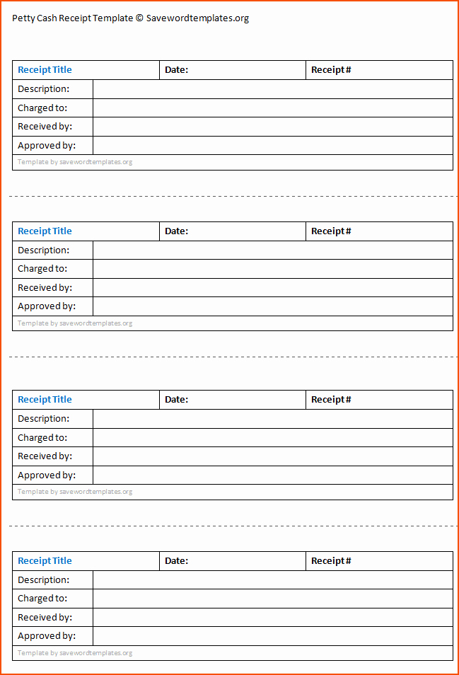 Cash Receipt Template Microsoft Word to Pin On