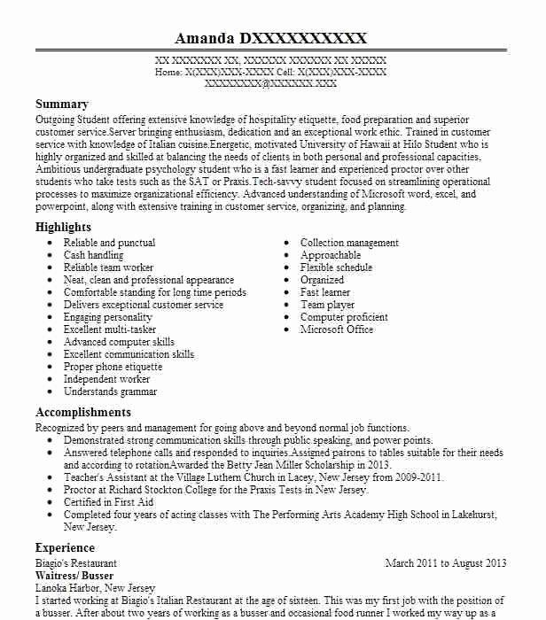 Cashier Job Description for Resume