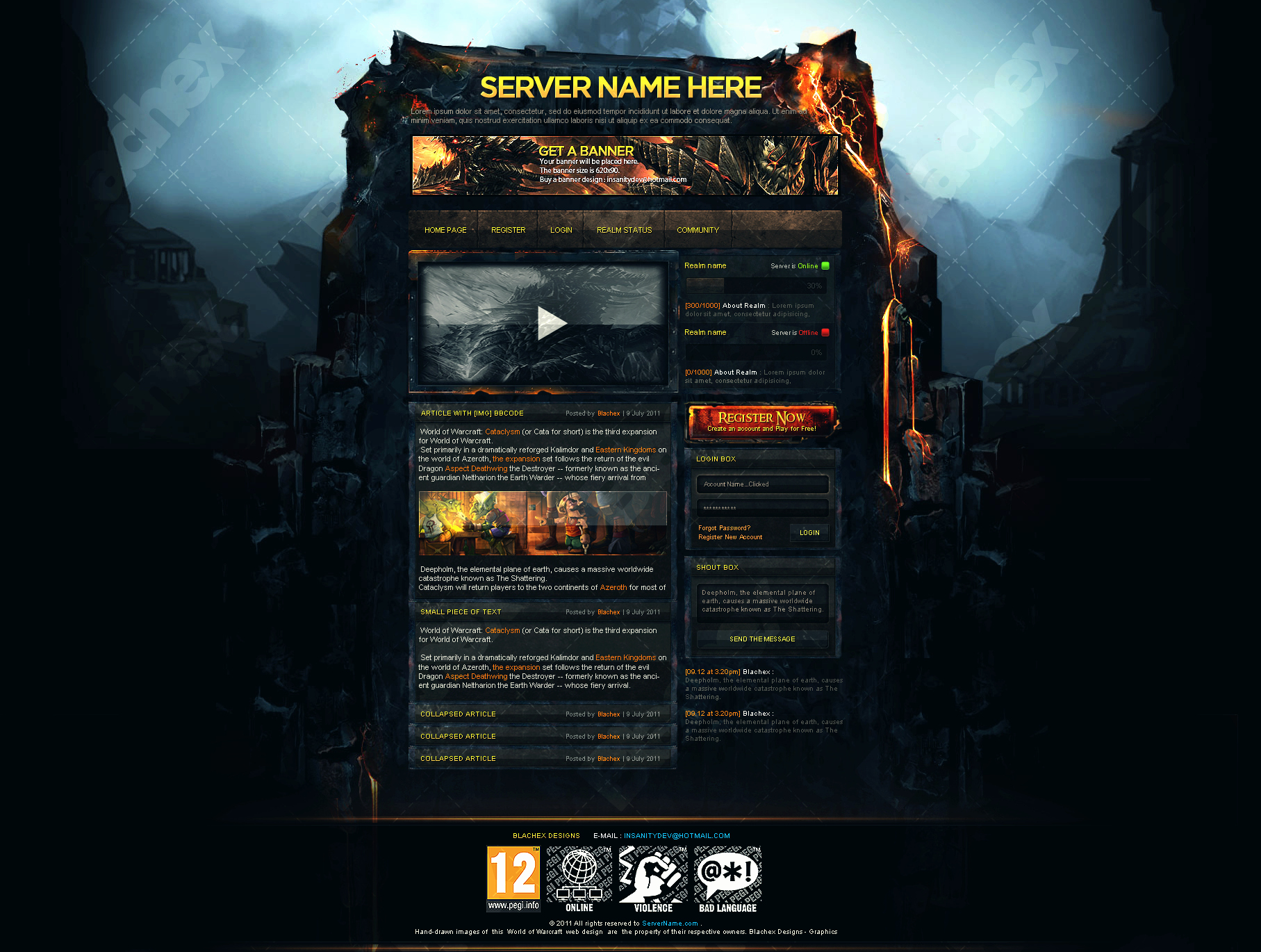 Cataclysm Web Template by Insdev On Deviantart