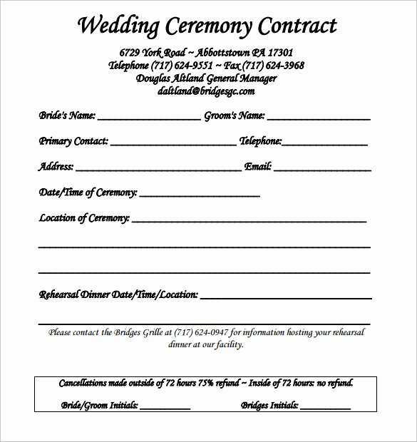 Catering Contracts Sample