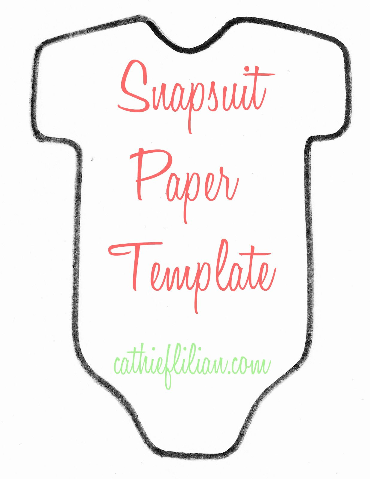 Cathie Filian Snapsuit Decorating Baby Shower Handmade
