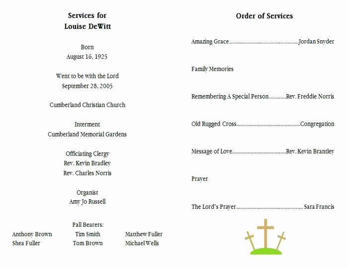 Catholic Funeral Mass Program Template Template