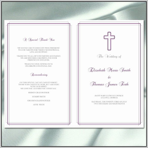 Catholic Wedding Mass Program Template Resume Examples