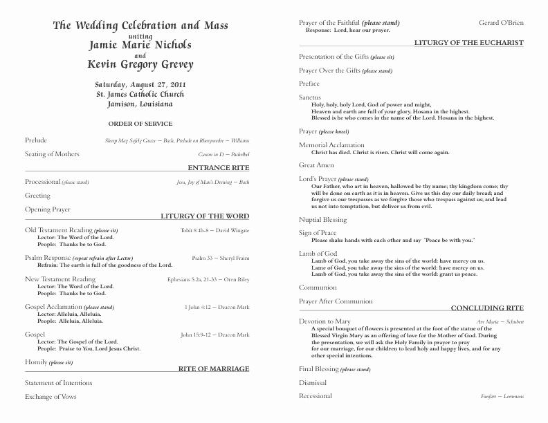 Catholic Wedding Program Template 6