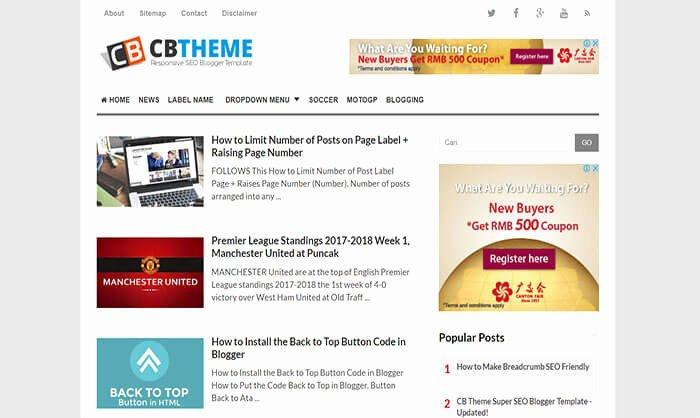 Cb Blogger Template